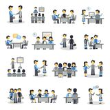 Meeting Icons Flat Set Royalty Free Stock Images