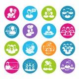 Meeting Icons Set Stock Image