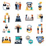 Meeting Icons Set Royalty Free Stock Images