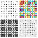 100 meeting icons set vector variant. 100 meeting icons set vector in 4 variant for any web design isolated on white royalty free illustration