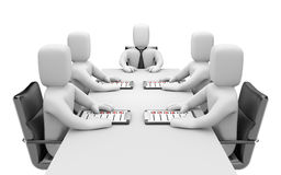 Meeting. Image contain clipping path Stock Image