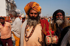 Meeting of the indian devotees Royalty Free Stock Images