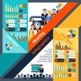Meeting Infographics Set Stock Photography