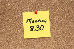 Meeting Interview Reminder Royalty Free Stock Photos