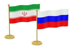 Meeting Iran with Russia concept Stock Photography