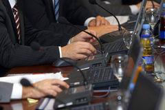 Meeting laptop 5 Royalty Free Stock Images