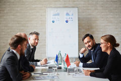 Meeting of leaders stock photos
