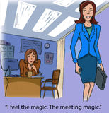 Meeting magic Stock Images