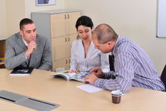 Meeting making and presentation Stock Images