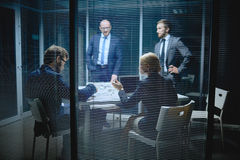 Meeting of managers Royalty Free Stock Image