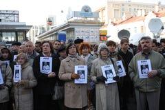 Meeting of memory of Anna Politkovskaya Stock Image