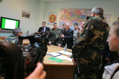 Meeting of the military leadership Stock Image