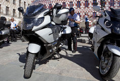 Meeting of motorbikes owners of BMW K 1600 Stock Photos