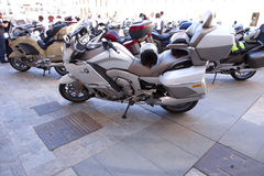 Meeting of motorbikes owners of BMW K 1600 Stock Images