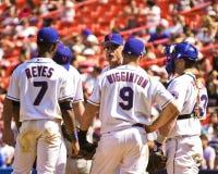 Meeting on the mound. Stock Photo
