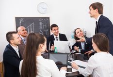 Meeting of multinational team Royalty Free Stock Photo