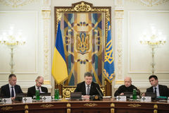 Meeting of National Security and Defense Council in Kiev Stock Photo