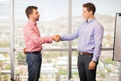 Meeting the new boss Royalty Free Stock Image