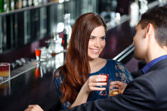 Meeting in the nightclub Royalty Free Stock Photography