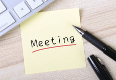Meeting Note Royalty Free Stock Image