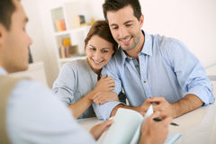 Meeting in office with real estate agent Royalty Free Stock Photos
