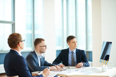 Meeting in office Royalty Free Stock Photos