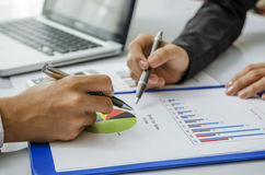 Free Meeting On Chart Stock Photos - 33714133