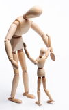 Meeting of parent and child. Royalty Free Stock Photo