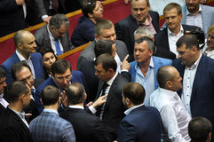 The meeting of parliament Verkhovna Rada of Ukraine_5 Royalty Free Stock Photos