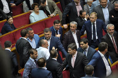 The meeting of parliament Verkhovna Rada of Ukraine_4 Royalty Free Stock Photos