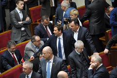 The meeting of parliament Verkhovna Rada of Ukraine_6 Stock Photo