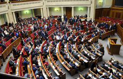 The meeting of parliament Verkhovna Rada of Ukraine_12 Stock Image