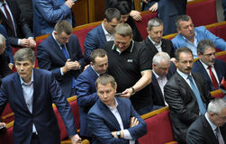 The meeting of parliament Verkhovna Rada of Ukraine_11 Royalty Free Stock Photos