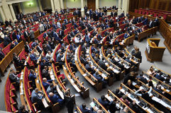The meeting of parliament Verkhovna Rada of Ukraine_13 Royalty Free Stock Image