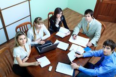 Meeting with partners Royalty Free Stock Photos