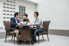 Meeting with partners Stock Images