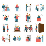 Meeting People Flat Color Icons Royalty Free Stock Images