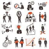 Meeting People Icon Set royalty free illustration