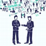 Meeting People Illustration Royalty Free Stock Photography