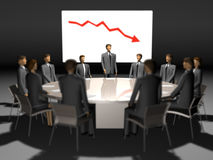 Meeting people at round table Royalty Free Stock Photography