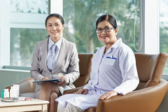 Meeting with pharmaceutical company representative Stock Images