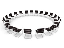 Meeting place. With lots of chairs Stock Image