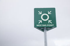 Meeting Point. A Meeting Point information signal Royalty Free Stock Photo