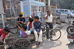 Meeting Point of Rickshaw Drivers Royalty Free Stock Photos