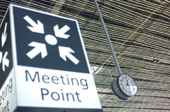Meeting point sign at the airport Stock Images