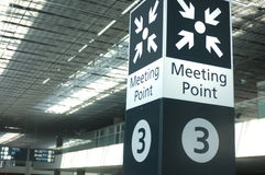 Meeting point sign at the airport Royalty Free Stock Image