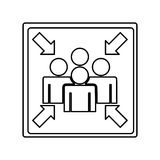 Meeting point sign icon Stock Photos