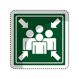 Meeting point sign icon Royalty Free Stock Images