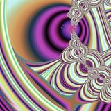 Meeting point too. Abstract fractal background created with the fractal explorer Royalty Free Stock Photo
