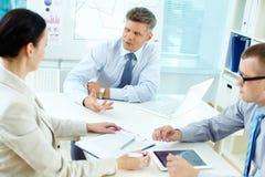 At meeting Stock Image